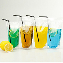 100Pcs Small Series Size Food Moisture-proof Bags, Clear Transparent Bags Stand Up Pouch for drinks,Beverages Bags,Biscuit Bag