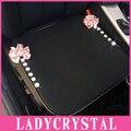 Ladycrystal azul rosa vermelha flores tampa de assento do estilo do carro para a bmw e para o benz cristal strass almofada do assento de carro universal abrange