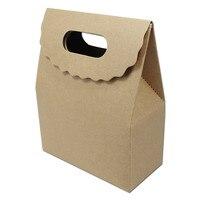 Kraft Paper Party/Ślub Sprzyja Cukierki Czekoladowe Schowek Rzemiosła Butik Etui Z Uchwytem Magia Taśma DIY Prezenty Pakiet pudełka
