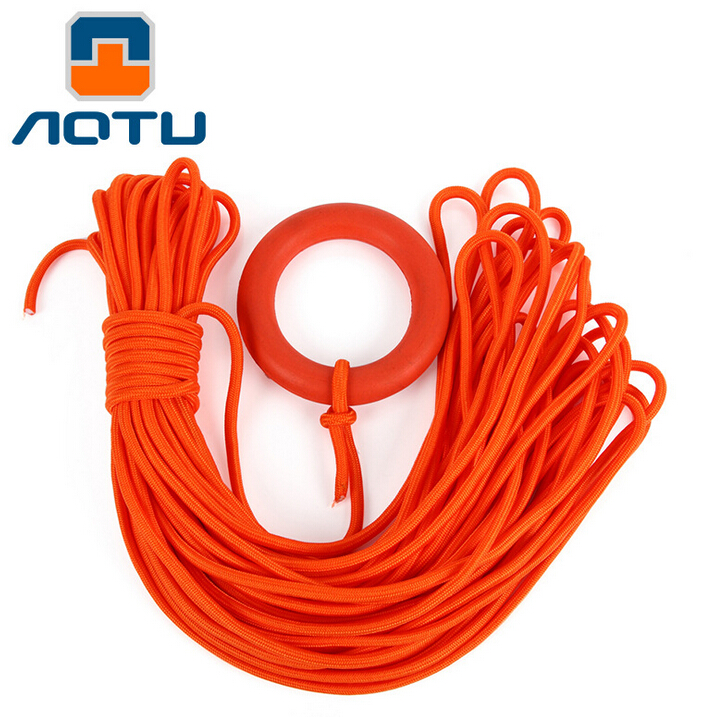 Aotu Swimming Pool Rescue Safety Water Life Saving Throwing Rope 8mm 30m Swimming Safe Equipment