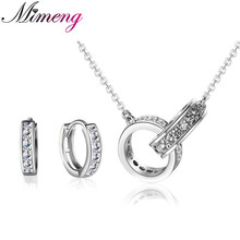 100% 925 Silver Jewellery Units Sterling Silver Jewellery set for Girls Starry Circle Set Free Delivery Prime High quality! Free Delivery