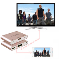 Universal Phone Video Audio to HDMI TV VGA AV Adapter for iPad for iPhone x 5 6 7 8 Plus Samsung s8 s9+ s7 S6 for HUAWEI Android