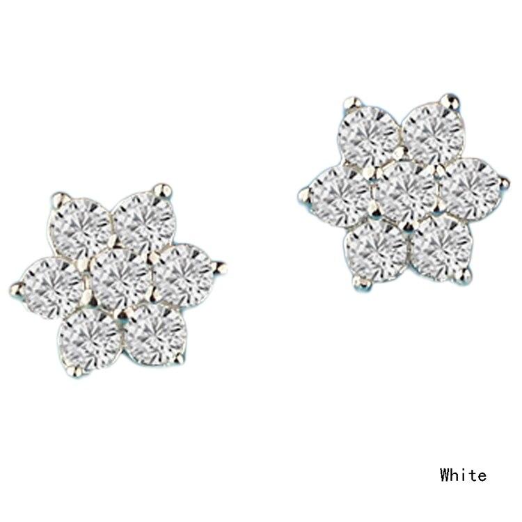 410b3baae435 Модные Стиль Кристалл Стад Симпатичные Снежинка Серьги для Для женщин  подарок
