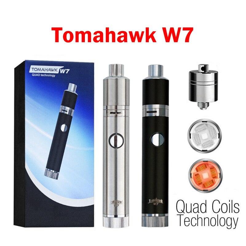 Mjtech débit d'air réglable 1400 mAh batterie W7 cire stylo vaporisateur herbe sèche vaporisateur E Cigarette vape mods W7 Kit de démarrage de vapeur