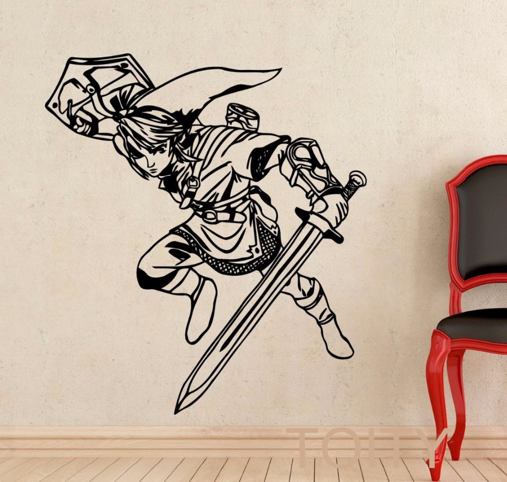 Link Wall Decal Princess Legend Of Zelda Vinyl Sticker
