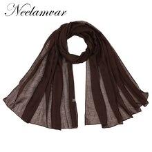 Neelamvar brand solid scarf women fashion 2019 Autumn and Winter Retro Style Long Big Size Scarf Shawl Wrap Warm