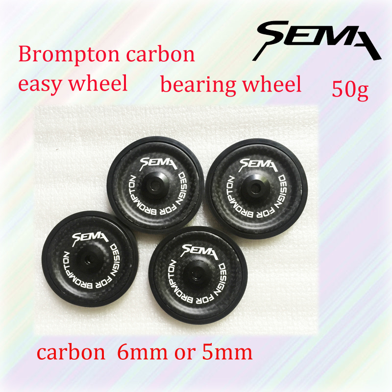 BROMPTON BiCYCLE Accessories carbon light Bicycle Parts SEMA design for brompton easy wheel 6mm 5mm titanimun screw rockbros titanium ti pedal spindle axle quick release for brompton folding bike bicycle bike parts