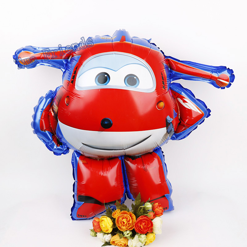 3D Super Wings Foil Balloon SuperWings globos Jett Helium Ballon 1pc Birthday Party Decorations Kids toys air inflatable balls