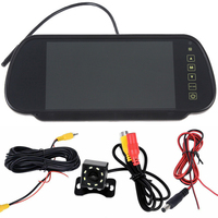 Safe Backup Reverse Parking Kit Waterproof Remote Control Practical Wired Accessory LCD Monitor Wide Angles Rear View Car Camera