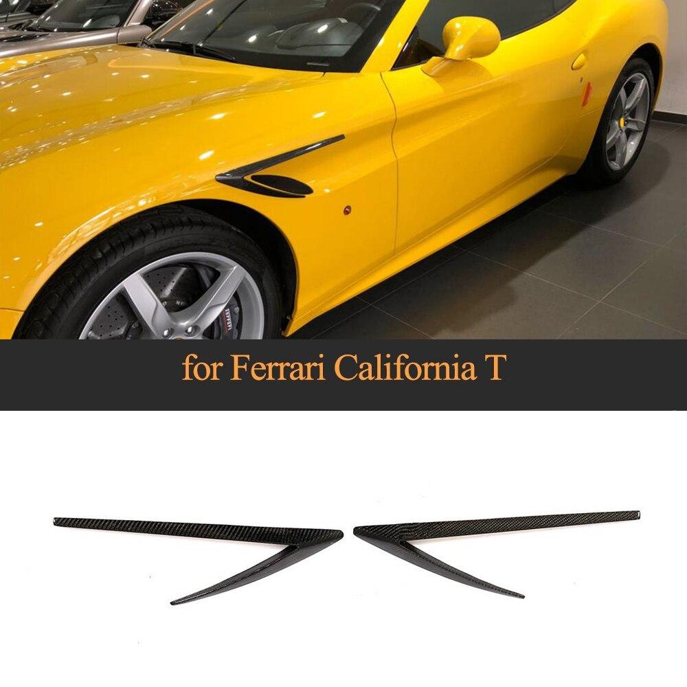 2 pièces De Pare-chocs De Fiber De Carbone Palmes Pour Ferrari California T Base Cabriolet Coupé 2 Portes 2015-2018 Ouïes D'aération