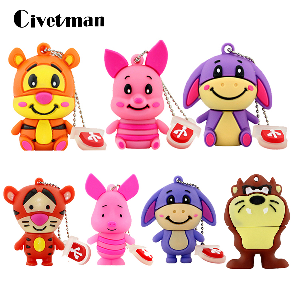 Hearty Jaster Promotional Mini Cartoon External Storage Usb 2.0 4gb 8gb 16gb 32gb 64gb Sitting Monkey Series Usb Flash Drive Fashionable Style; In