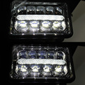 4 X 6'' Led (2 PCS) Headlight With Parking Light Replace HID Xenon H4651 H4652 H4656 H4666 H6545 Peterbilt Kenworth Freightliner