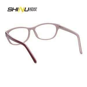 Image 5 - Anti Blauw Licht Leesbril Vrouwen Antifatigue Lange Sight Eyewear UV400 Bescherming Acetaat Brillen Oculos De Leitura LD016