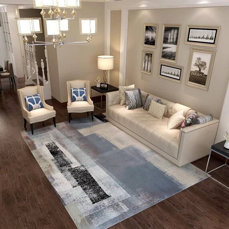 One Bedroom Living Room: Modern Abstract Carpets For Living Room Sofa/Chair/Table