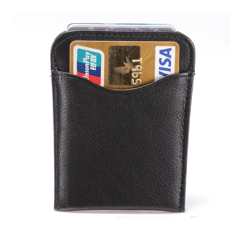Mode Nya RFID-män Äkta Läder Fashiom Plånbok Business - Plånböcker - Foto 4