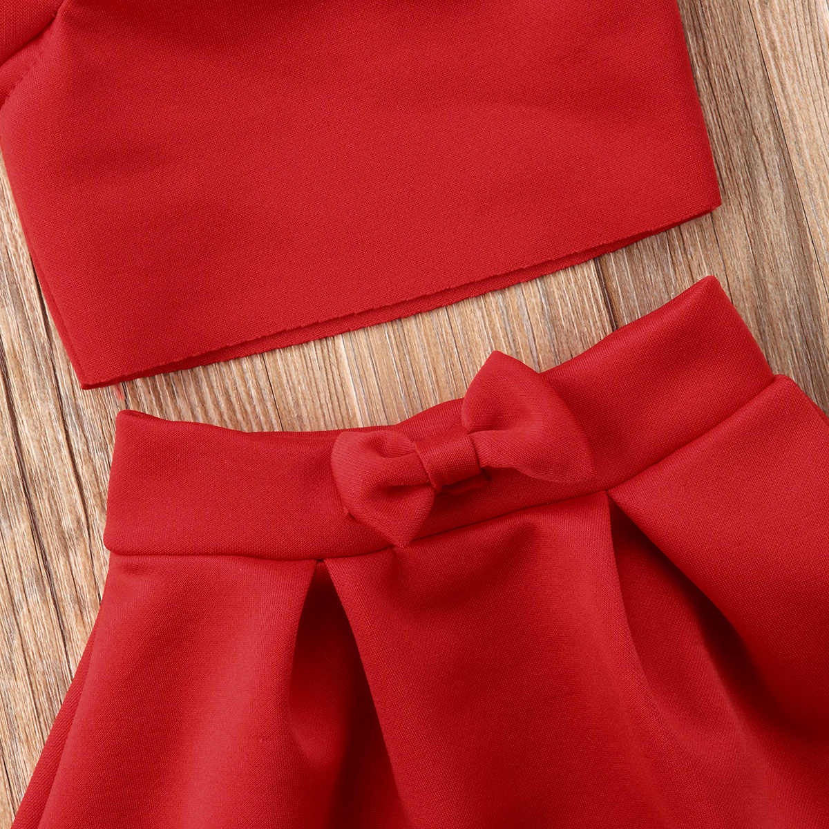Noworodka dla dzieci Baby Girl Party Off ramię Crop topy spódnica stroje ubrania lato śliczne księżniczka jednolity Bowknot bawełna odzież