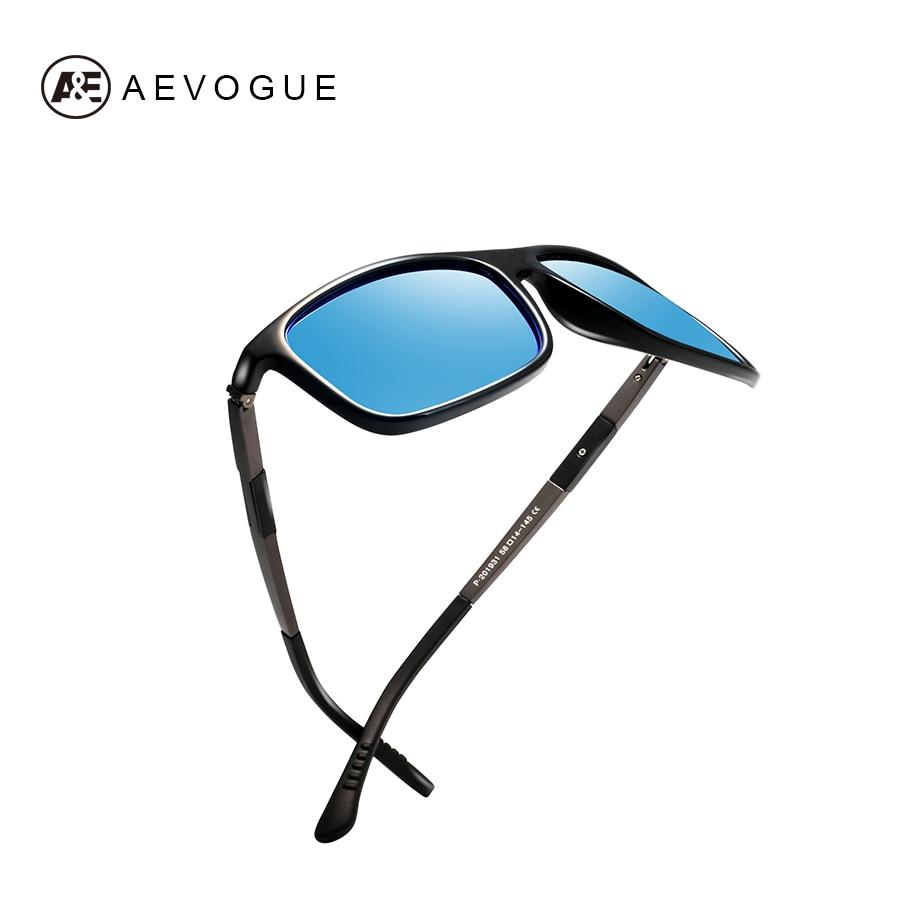 AEVOGUE polarizado gafas De sol hombres De aluminio y magnesio templo rectángulo clásico diseño De lujo gafas De sol De conducción UV400 AE0612