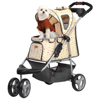 Pet Stroller Dog And Cat Stroller Collapsible Stroller Removable And Washable Breathable Skylights Large Object Space