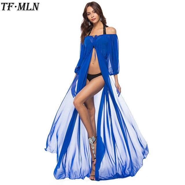 3bc0e55536f5 TFMLN Spring Summer Dresses Women Sexy Backless Female Boho Style Long  Beach Dress Woman Jacobs dess