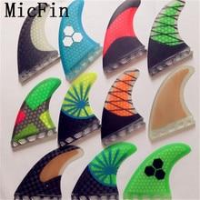 PRZYSZŁOŚĆ G5 Micfin Średniej wielkości płetwy płetwy surfingu włókna szklanego o strukturze plastra miodu 3 sztuk/zestaw quilhas pranchas de surfować