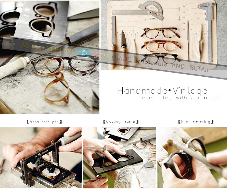 784dd51670b41 CL Real Handmade Acetate Frames Johnny Depp Glasses Men Superstar Demi  Color Brand Optical Frame Cat