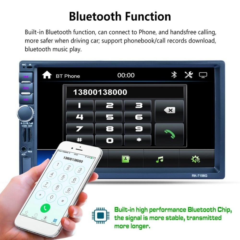 купить RK-7156G 2Din 7inch Car MP5 Bluetooth FM/RDS Car Radio HD Touch Screen GPS Navigation Car Multimedia Player Support USB TF по цене 5991.94 рублей