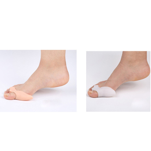 Image 2 - 2Pcs Siliconen Gel Teen Separator Middenvoet Bunion Spalk Bescherming Corrector Orthesen Hallux Valgus Pijn Foot Care Tool