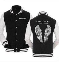 New Hooded Winter cotton baseball Coats Jackets Men Sweatshirt Coldplay Hoodies rock
