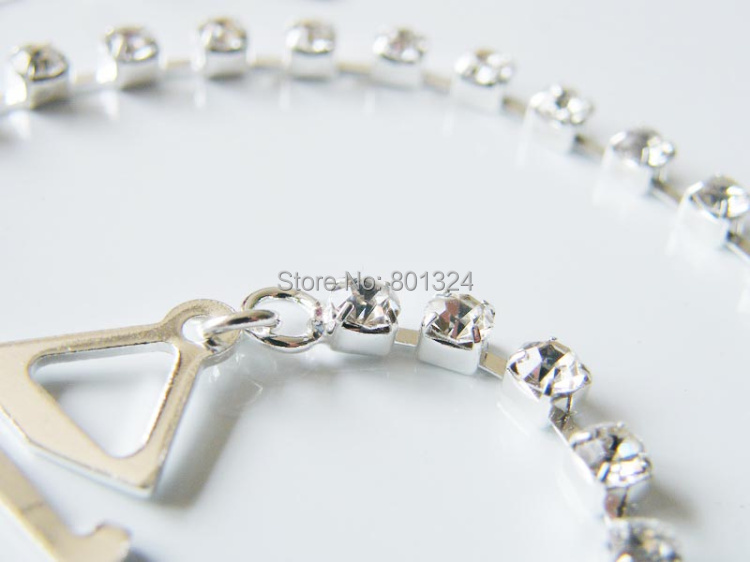 New Sexy Women's Ladies Adjustable Crystal Diamante Rhinestone Bra Shoulder Straps Nice 1 Pair 5