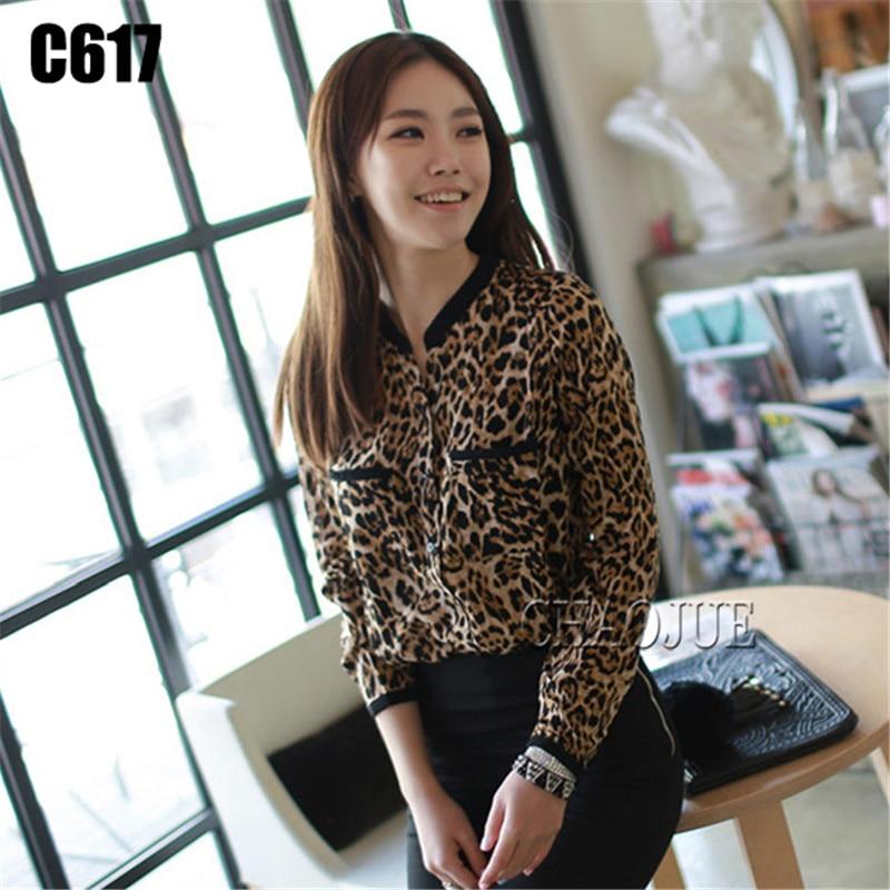 Femmes printemps imprimé léopard blouse décontractée lâche chemises de grande taille XL 2XL 3XL 4XL sexy à manches longues haut vêtements blouse Isweeland186