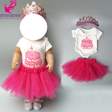 18 inch doll dress with birthday cake pattern shirt 17 baby summer clothes