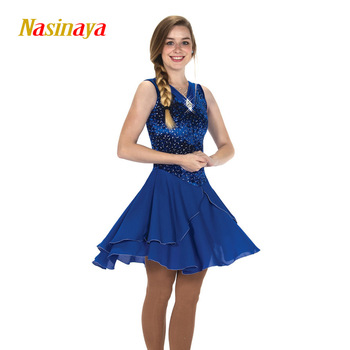Nasinaya Figure Skating Dress Customized Competition Ice Skating Skirt for Girl Women Kids Patinaje Gymnastics Performance 297