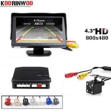 Koorinwoo Alarm BIBi Sound 4 Sensors 4 3 inch Auto TFT Screen Colorful Monitor Video CCD