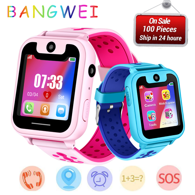 New Fashion BANGWEI Brand Kids Smart Watches LED LBS Positioning Anti-lost Multi