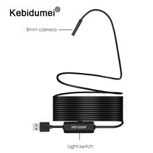 كاميرا تنظير واي فاي HD 1200P صغيرة مقاومة للماء سلك صلب لاسلكي 8 مللي متر 8 LED Borescope كاميرا لأجهزة الأندرويد PC لأجهزة IOS التنظير