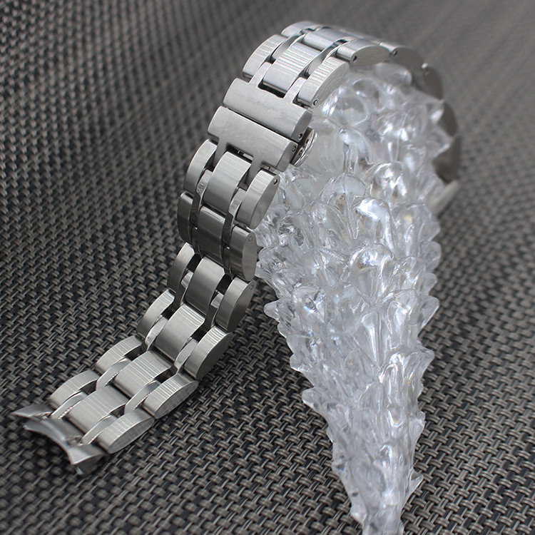 ФОТО Men Silver Solid Stainless steel Butterfly Buckle Strap Band T035617 T035439 New Watch Parts Watch Bands For Tissot couterier