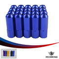 PQY RACING- HIGH QUALITY WHEEL Lug Nuts L: 60mm P:12x1.5 or 12x1.25 7075 Aluminum 20 Pieces/Set wheel nut PQY- LB1215OR12125