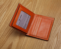 LANSPACE men's genuine leather wallet vertical short men purse famous brand coin purses holders