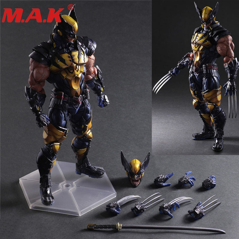 PA the Avengers X-Men Wolverine action figure toy doll collection about 11inches 26cm arms and legs movable toy with retail box 25cm original edition exq series macross f sheryl nome slender legs ver pvc action figure collection toy doll with box