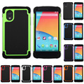 For LG Google Nexus 5 E980 G4 G3 mini G2 Hybrid Combo Impact Rugged Armor Silicone+PC Hard Case Cover phone case