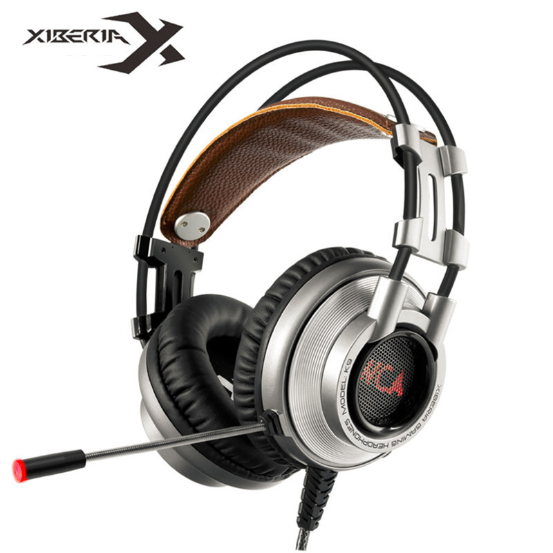 XIBERIA K9 USB Surround Stereo Gaming Headphone With Microphone Mic PC Gamer LED Breath Light Headband Game Headset for LOL CF xiberia v10 computer gaming headphone super bass stereo headset with microphone led light luminous earphone for pc gamer