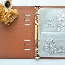 Скрапбукинг режущие штампы Органайзер трафарет набор марок альбом для хранения Книга из искусственной кожи обложка ПВХ Внутренние листы и карманы