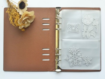 Scrapbooking Cutting Dies Organizer Stencil Stamps Collection Album Storage Book PU Leather Cover PVC Inner Sheets And Pockets