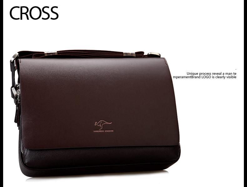New Arrived luxury Brand men's messenger bag Vintage leather shoulder bag Handsome crossbody bag handbags Free Shipping 14