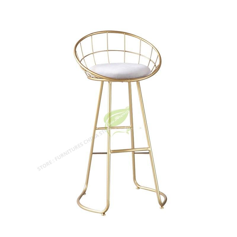 European Style Iron Art  Tabouret De Bar Modern Bar Stool Bar Stool Seat Bar Furniture Dotomy Beauty Salon Furniture Iron Art