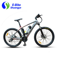 Free Shipping Aluminum Frame 350W 26 Folding Electric Mountain Bicycle