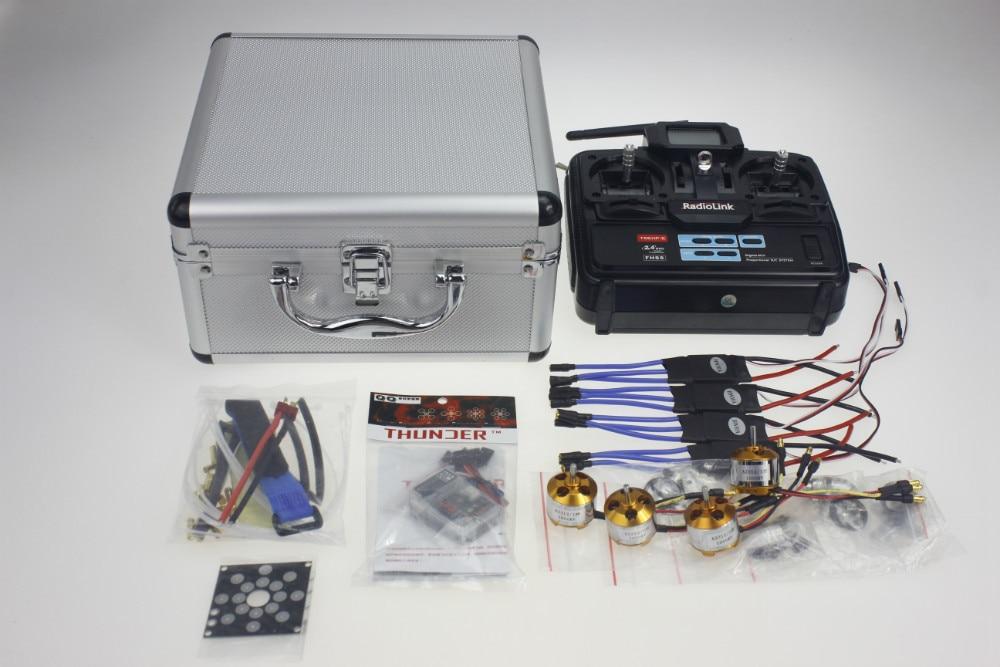 Y10335-C Silver Carry Case With T6EHP-E Transmitter 30A ESC Deans T Plug A2212 1000KV Motor ESC Board QQ SUPER Flight Control 30a esc welding plug brushless electric speed control 4v 16v voltage