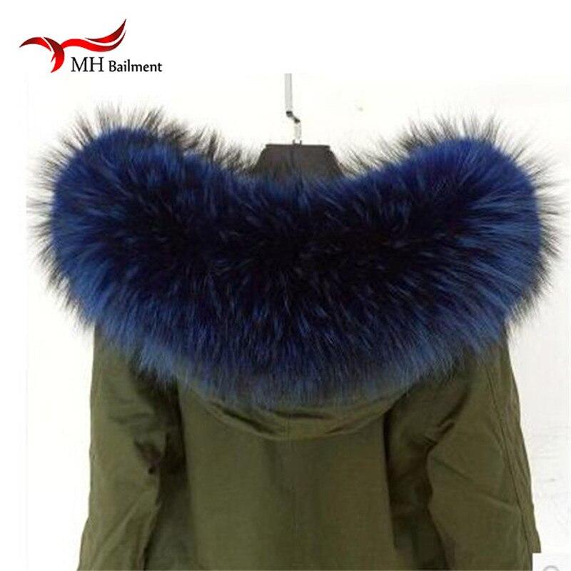 Přírodní skutečný mýval kožešinový límec šátek pro ženy zimní šátek kabát čepice teplý originální kožešinový límec šátky L # 79