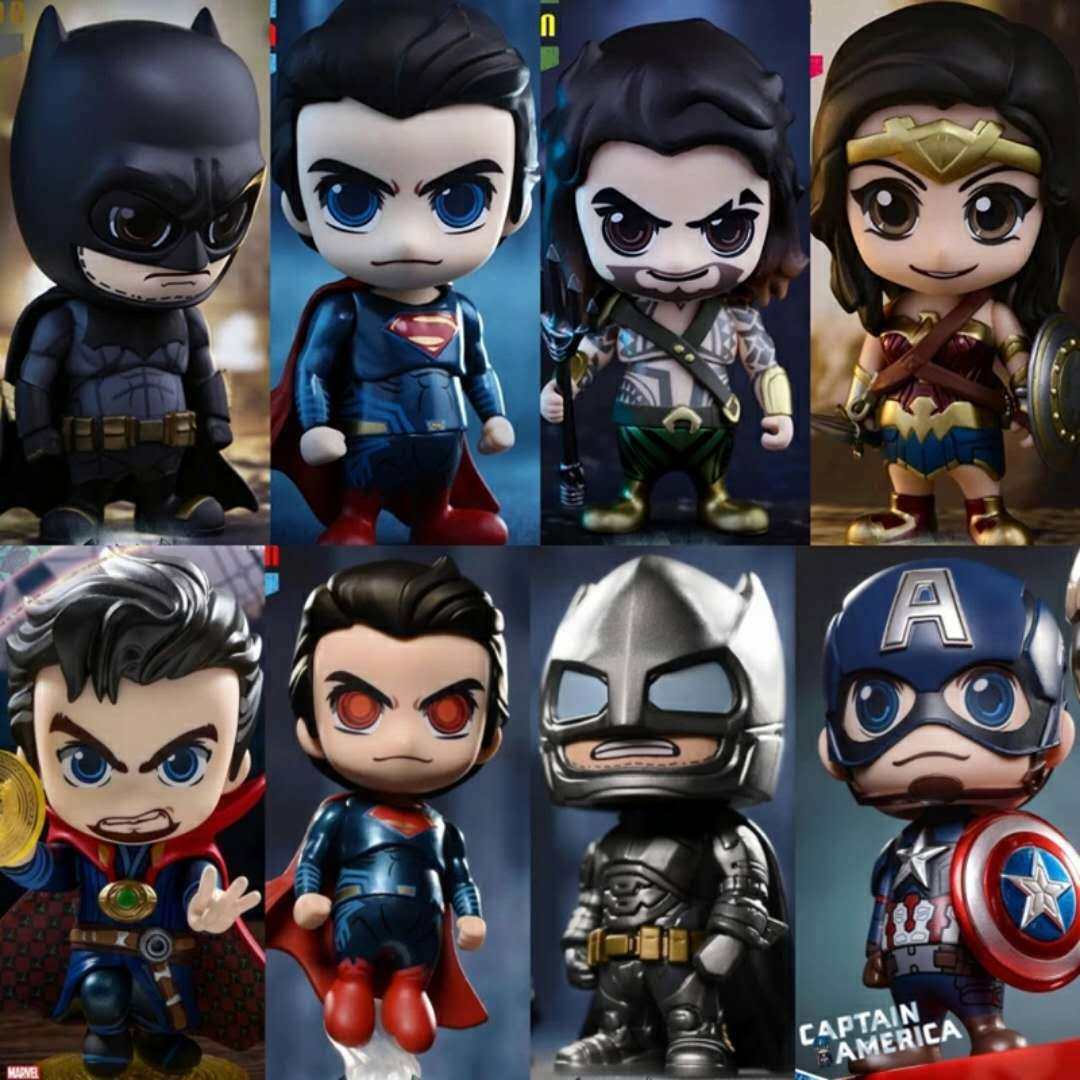 Star Wars Marvel Avengers DC Justice League Super Hero Characters Cute Kawaii Style Action Figure Model Toys 10cm