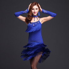 New Arrivals Performance Ballroom Dancing Salsa Dance Dresses Samba Costumes 3pcs Dress, Necklace and SleevesLatin Dress Dance